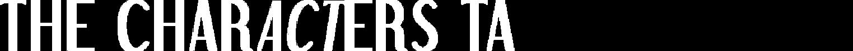 Characters Full Letterhead Logo Black an