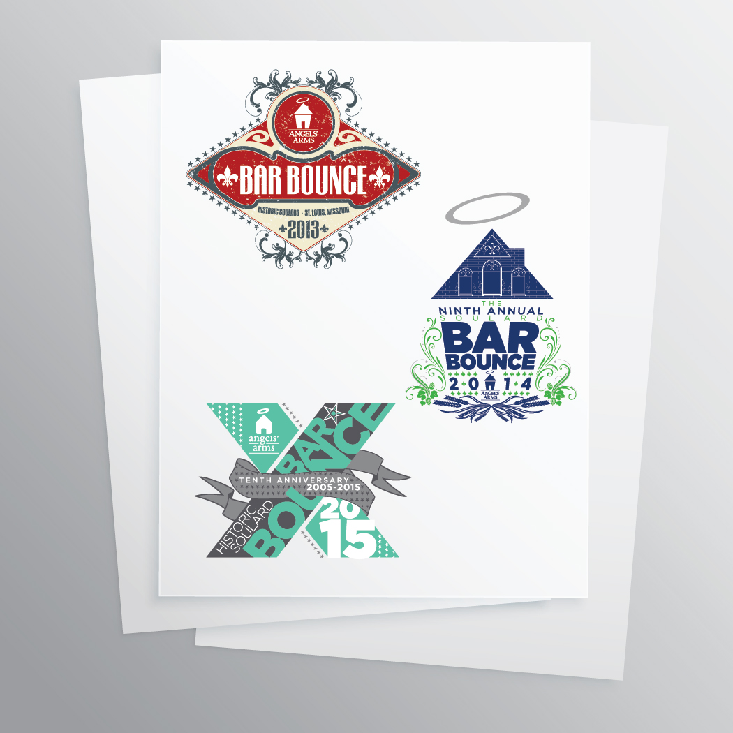 Angels' Arms Bar Bounce Logos