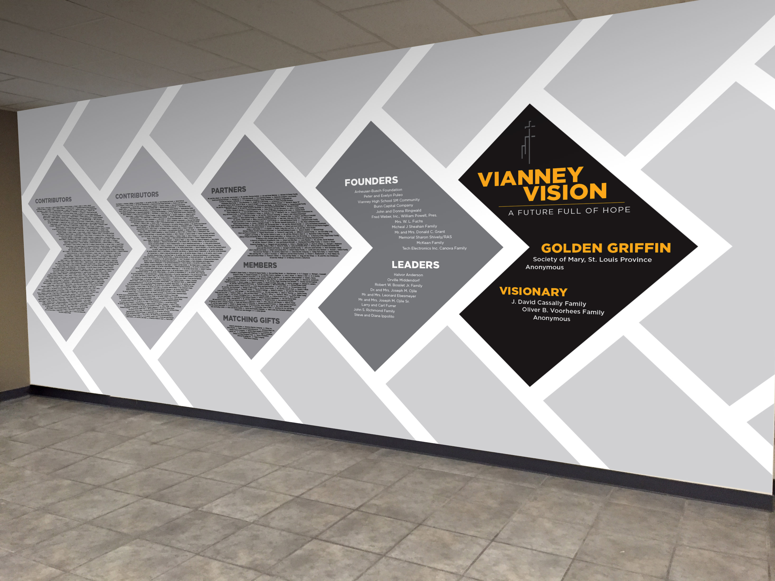 Conceptual Donor Wall for Vianney