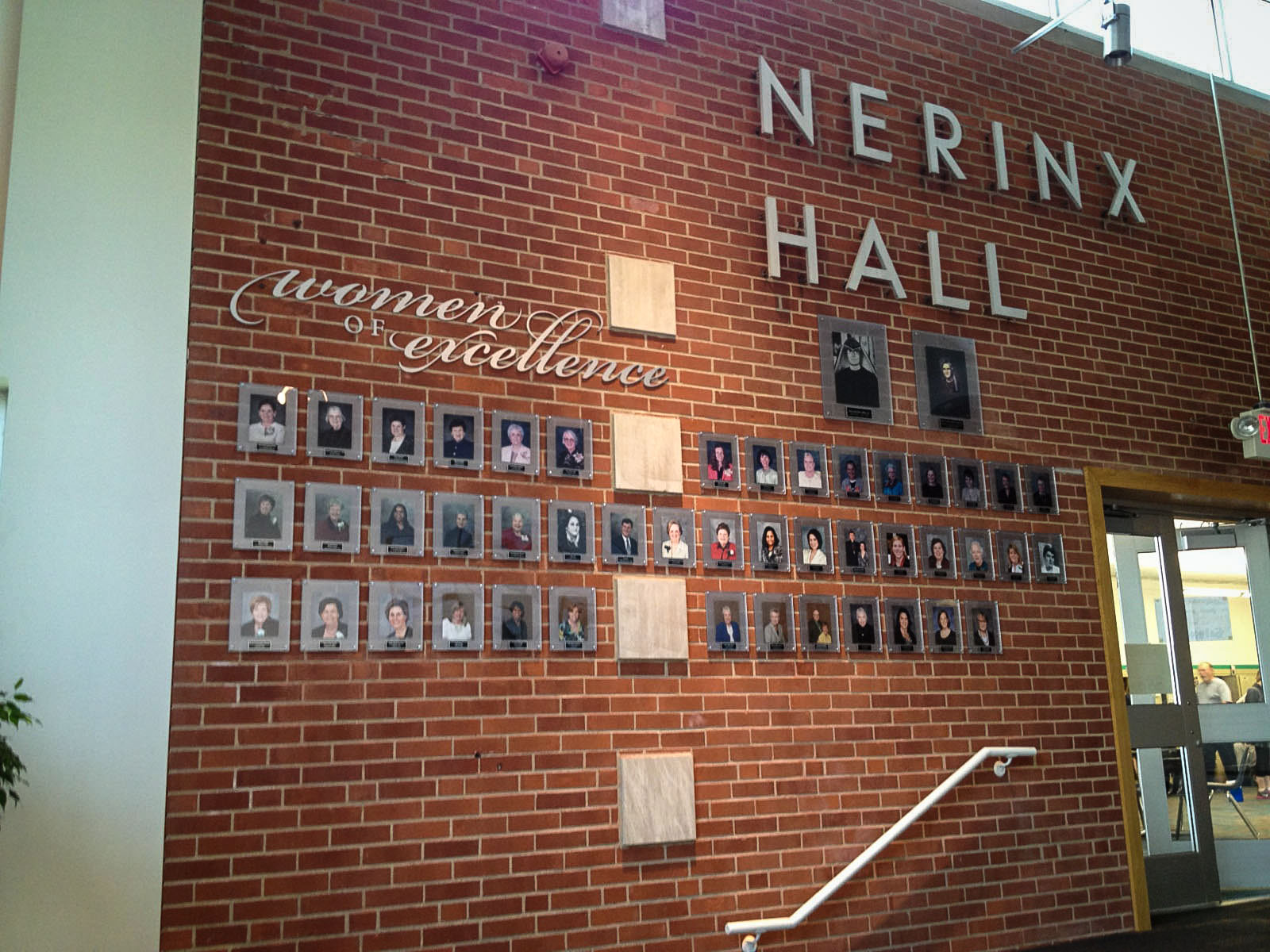 Nerinx Hall Women of Excellence Wall