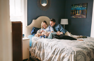 Indianapolis Newborn Photographer | In-home Lifestyle Session