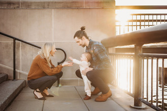 Indianapolis Family Photographer | Downtown Urban Outdoor Sunset Session