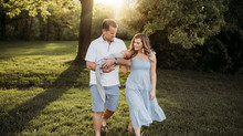 Indianapolis Newborn Photographer | Indiana Outdoor Sunset Session