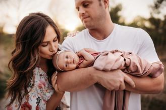 Indianapolis Newborn Photographer | Indiana Outdoor Sunset Session