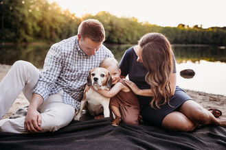 Indianapolis Family And Maternity Photographer | Indiana Outdoor Sunset Session