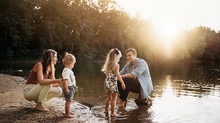 Indianapolis Newborn and Family Photographer | Outdoor Sunset Session