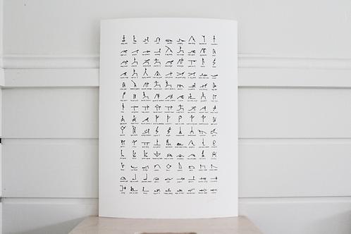 A3 Yoga Print Unframed