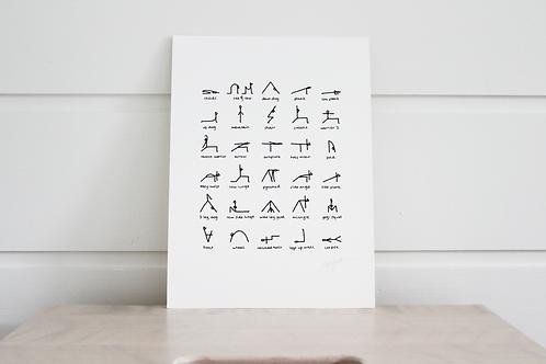 A5 Yoga Print Unframed