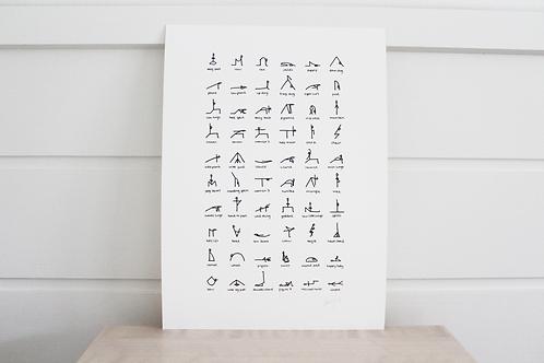A4 Yoga Print Unframed