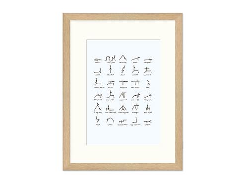 A5 Yoga Print Framed