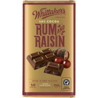 WHITTAKERS  RUM & RAISIN 250GM