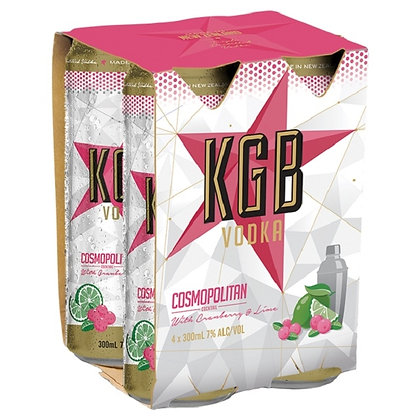 KGB VODKA 7% 300ML 4PK CANS