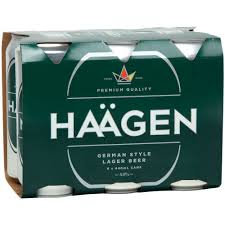 HAAGEN LAGER 6PK 440ML CANS