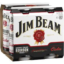 JIM BEAM COLA 4X440ML CANS
