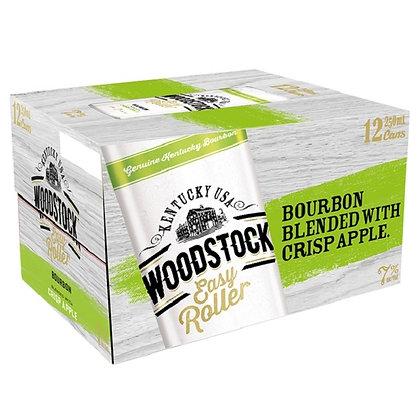 WOODSTOCK EASY ROLLER APPLE 7% 12PK CANS