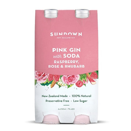 SUNDOWN PINK GIN 4PK BOTTLES