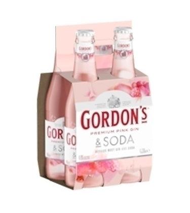 GORDON PINK GIN & SODA 4PK BOTTLES