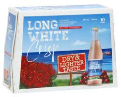 LONG WHITE CRISP CRANBERRY 10PK