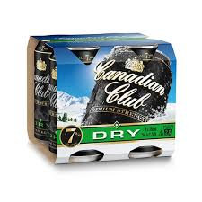 CANADIAN CLUB DRY 4PK CANS 440ML