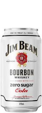 JIM BEAM ZERO 4PK CANS 440ML