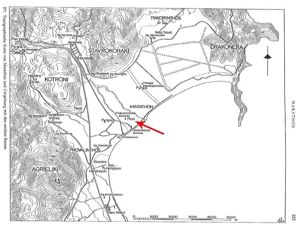 Χάρτης Μαραθώνα