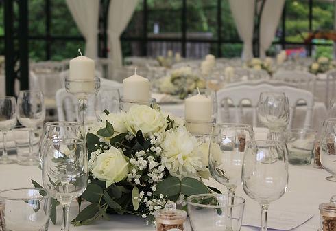 Centre de table mariage | mariage champêtre | mariage chic | fleuriste mariage | célestine