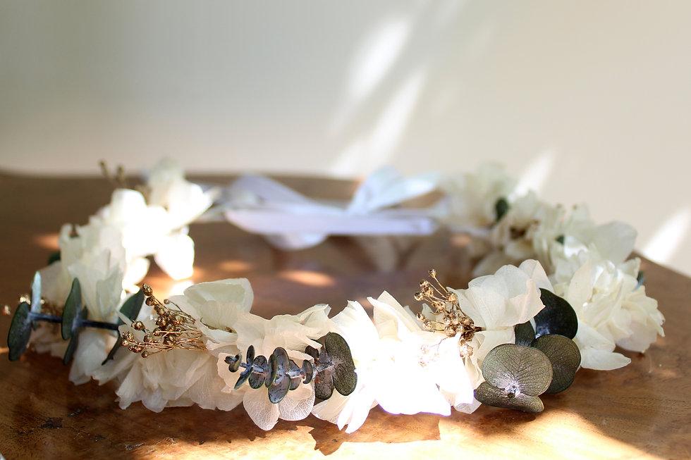 couronne mariée fleurs stabilisées | couronnes témoins fleurs stabilisées | peignes fleurs stabilisées | boutique en ligne fleurs stabilisées