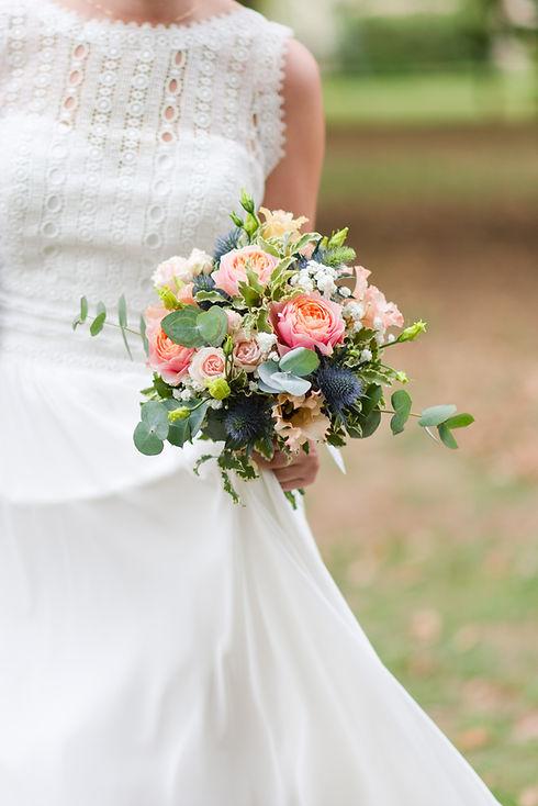 Bouquet de mariée champêtre | fleuriste mariage | célestine
