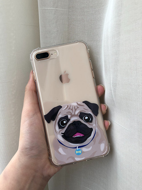 MACY THE PUG SHOCKPROOF CASE