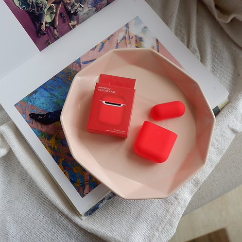 Red Silicone Airpods 1 and 2 Case