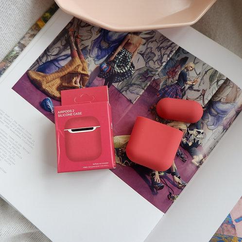 Crimson Silicone Airpods 1 and 2 Case