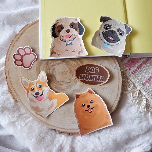 Dog Momma Sticker Set