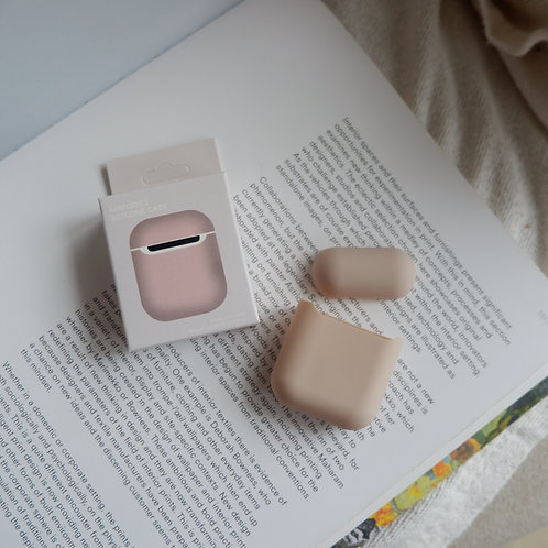 Sand Silicone Airpods 1 and 2 Case