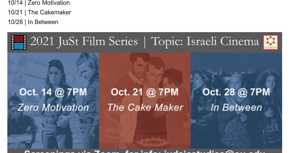 JuSt Lunch: Film Series
