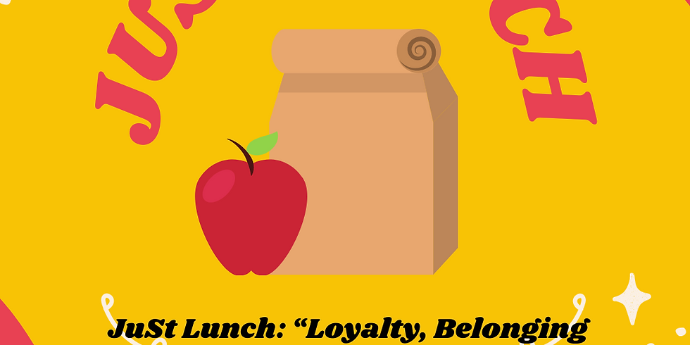 """JuSt Lunch: """"Loyalty, Belonging and Treason: Questioning Israeli National Identity"""" with Hadas Cohen"""