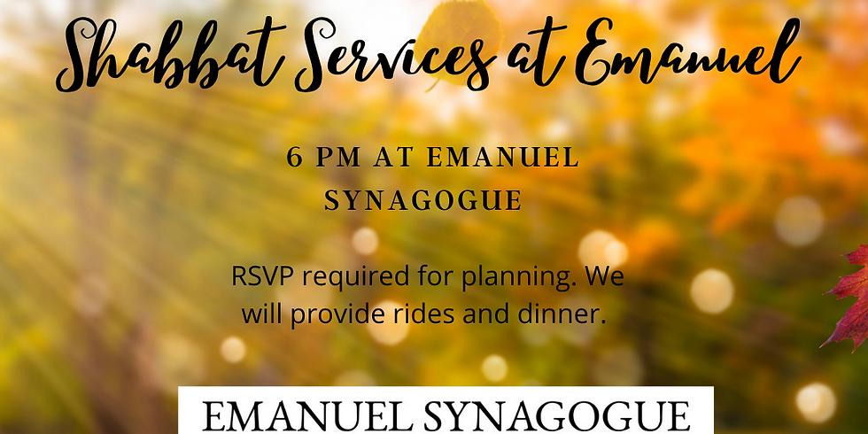 Shabbat Services  at Emanuel Synagogue!