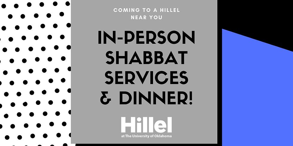 Welcome Back Shabbat Services & Dinner!