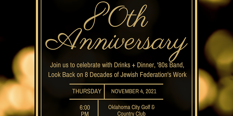 SAVE THE DATE: JFED's 80th Celebration!
