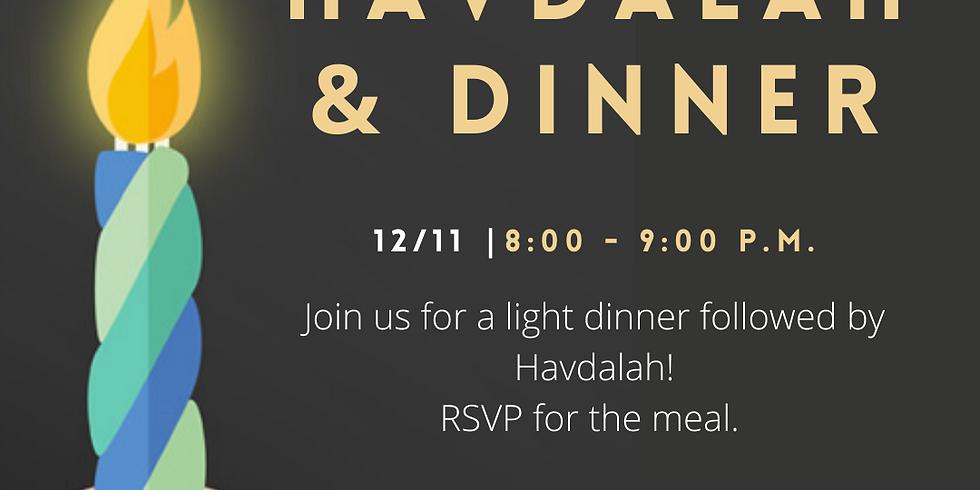 Hillel Havdalah & Dinner