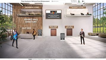 Screenshot of 10th Annual Tribal Healing to Wellness Court Virtual Enhancement Training 6Connex Lobby