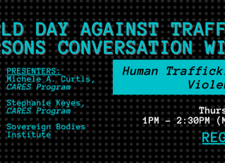 World Day Against Trafficking in Persons Conversation with CSVANW