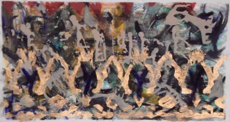 oil, pastel on paper, 2014