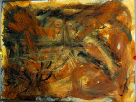 oil, pastel on paper, 2011