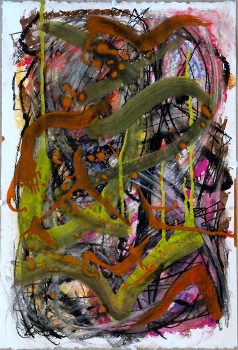 oil, pastel on paper, 2015