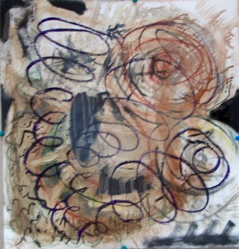 oil, pastel, on paper, 2019