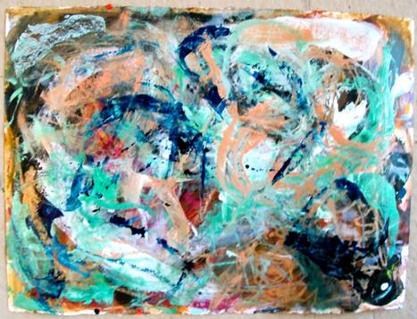 oil, pastel on paper, 2013