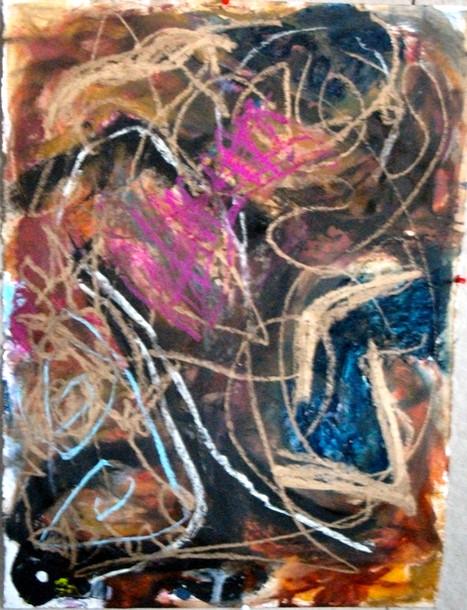 pastel on paper, 2018