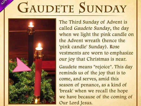 Gaudete Sunday - Third Sunday in Advent