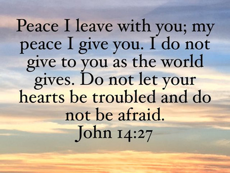 The peace only Jesus gives