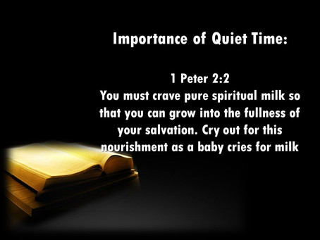 The Importance of Having a Quiet Time with God